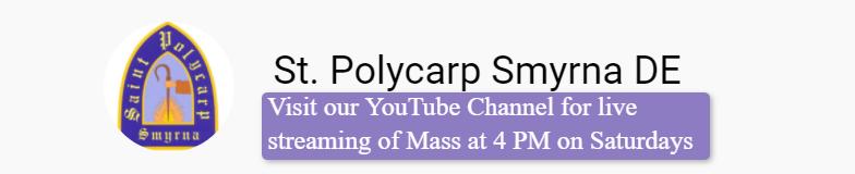 St. Polycarp YouTube Channel